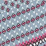 Women: Designer Sale: Grey / Print Ellen Tracy Printed Zip Caftan