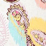 Women: Designer Sale: Ivory Multi Ellen Tracy Printed Zip Caftan