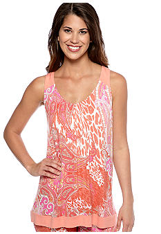 Ellen Tracy Sleeveless Paisley Print Sleep Top