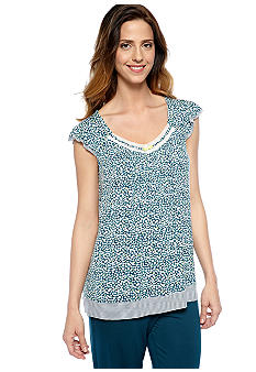 Ellen Tracy Flutter Sleeve Sleep Top