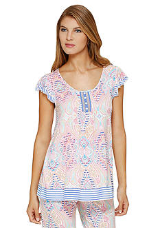 Ellen Tracy Flutter Sleeve Top