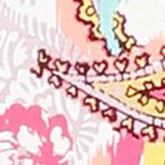 Women: Designer Sale: Ivory Multi Ellen Tracy Flutter Sleeve Top