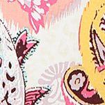 Women: Designer Sale: Ivory Multi Ellen Tracy Printed Crop Pants
