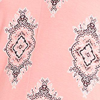 Women: Pajama Sets Sale: Coral / Print Ellen Tracy Printed Caftan Pajama Set
