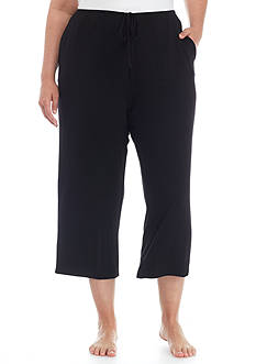 Ellen Tracy Plus Size Drawstring Lounge Capri