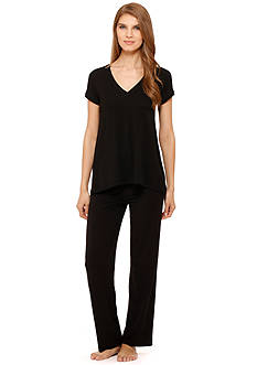 DKNY Cap Sleeve Color Block Sleep Tee