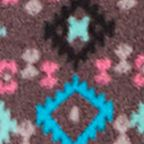 Plus Size Lingerie: Tops: Blue Novelty Cuddl Duds Striped Crew Fleece Top - CD8417565