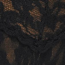 Designer Underwear for Women: Black Hanky Panky® Signature Lace V-kini - 482374