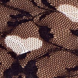Luxury Lingerie: Black Hearts DKNY Signature Lace Bikini - 543000