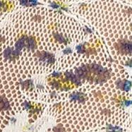 Women's Bikini Underwear: White Floral Print DKNY Signature Lace Bikini - 543000