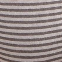 Women's Bikini Underwear: Gray Stripe DKNY Downtown Cotton Bikini - 543114