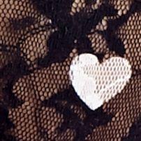 Luxury Lingerie: Black Hearts DKNY Signature Lace Boyshort - 545000