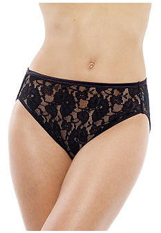 Vanity Fair Helenca Lace Hi-Cut Brief - 0013202