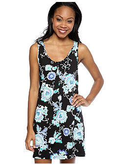 ND Intimates Paisley Print Bow Back Chemise