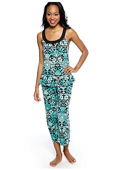 ND Intimates Medallion Print Capri Pajama Set