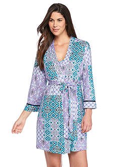 New Directions Intimates Patchwork Wrap Robe
