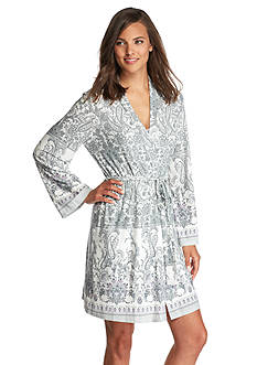 New Directions Intimates Tyrol Border Wrap Robe