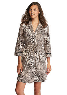 New Directions Intimates Diagonal Animal Wrap Robe