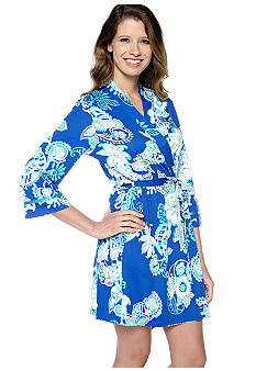 ND Intimates Paisley Floral Short Wrap Robe