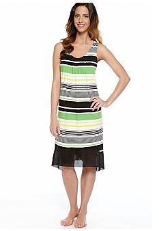 Anne Klein Mixed Stripe Short Gown