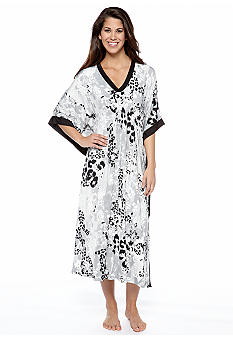 Anne Klein Animal Print Long Caftan