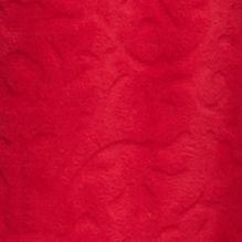 Bathrobes For Women: Red Kim Rogers Plush Fleece Zip Front Robe