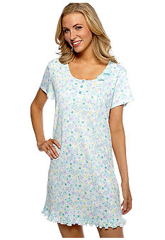 Karen Neuburger Floral Print Sleep Shirt