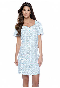 Karen Neuburger Ditsy Scroll Nightshirt