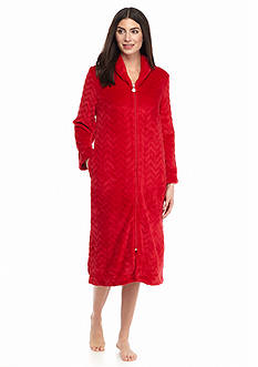 Karen Neuburger Plus Size Ruby Chevron Zip Robe