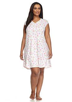 Karen Neuburger Plus Size Ditsy Floral Sleepshirt