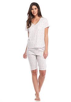 Karen Neuburger Ditsy Floral Bermuda Pajama Set