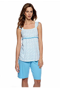 Karen Neuburger Ditsy Scroll Tank Short Pajama Set