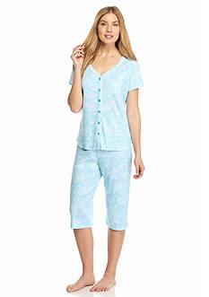 Karen Neuburger Printed Cardigan Pajama Set