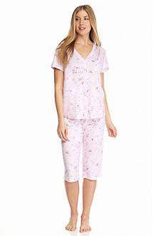 Karen Neuburger Printed Cardigan Capri Pajama Set