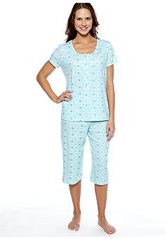 Karen Neuburger Dual Striped Capri Pajama Set
