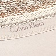 Women: Designer Sale: Ostrich Feather Calvin Klein Signature Bikini - F3266