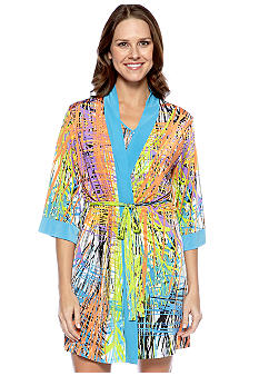 Josie by Natori Multicolor Short Wrap Robe