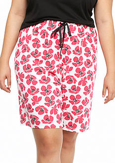 Jockey Plus Size Poppy Print Bermuda Shorts