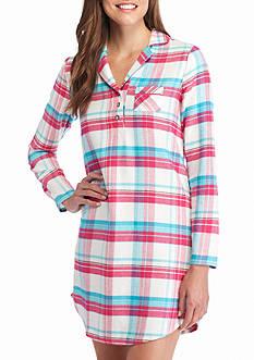 Jockey Long Sleeve Flannel Plaid Sleepshirt