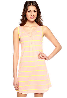 Jockey Textured Stripe Sleeveless Chemise