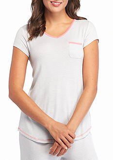 Jockey Short Sleeve Stripe V-Neck Tee