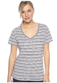 Jockey® Purple Stripe Short Sleeve Basic Tee