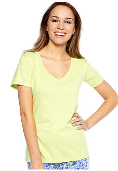 Jockey Solid V-Neck Sleep Tee