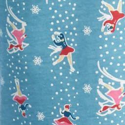 Juniors Pajama Pants: Skating Party Jockey Long Printed Jersey Sleep Pant