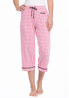Jockey Gingham Check Cuff Capri