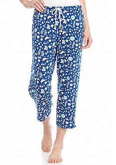 Jockey Bird Flower Print Capris