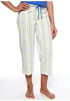 Jockey Bubble Striped Capri Pajama Pant