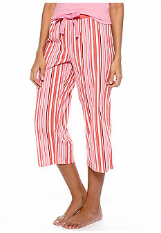 Jockey Striped Capri Pajama Pant