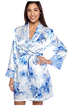 Jones New York Watercolor Bouquet Wrap Robe