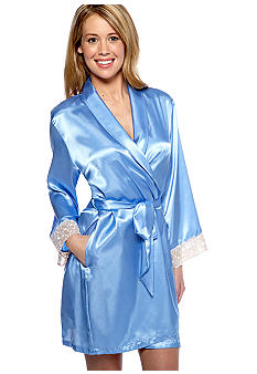 Jones New York Solid Essentials Short Wrap Robe